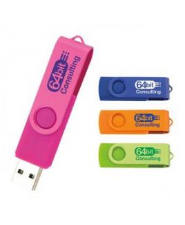 8 GB Universal Source™ Two Tone Folding USB 2.0 Flash Drive