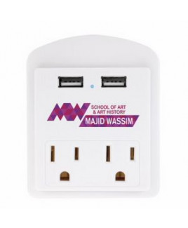 Good Value® Modern USB Wall Adapter w/Phone Holder
