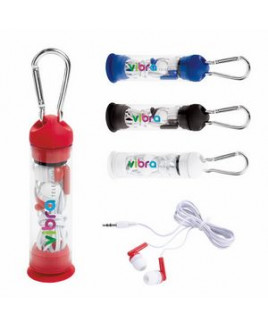 Good Value® Earbuds In Phone Stand Case w/Carabiner