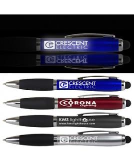 """The Corona"" Laser Logo Light Up Stylus Pen"