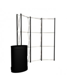 8' Curved Show 'N Rise Floor Display Hardware