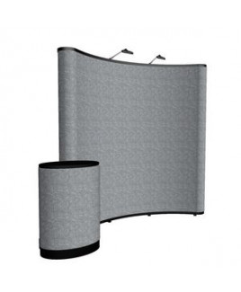 8' Curved Show 'N Rise Floor Display Kit (Fabric)