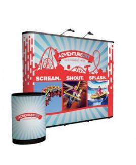 10' Straight Show 'N Rise Floor Display Kit (Full Mural)