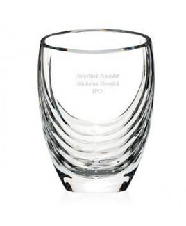 Mario Cioni Siena Clear Crystal Vase