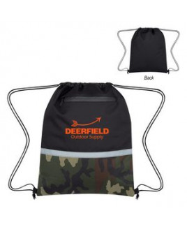 Camo Accent Drawstring Sports Pack