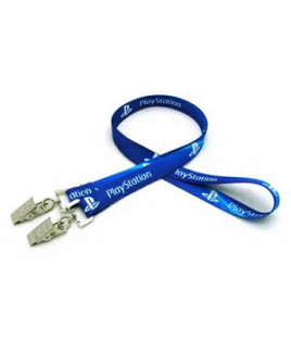 "5/8"" Digitally Sublimated Lanyard w/ Double Standard Attachment"