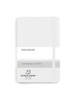 Moleskine® Hard Cover Ruled Medium Notebook - White