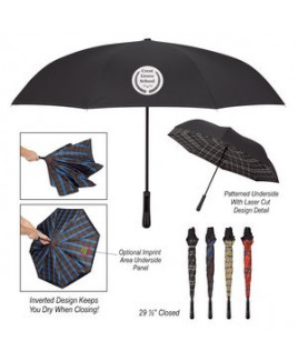 "48"" Arc Tartan Inversion Umbrella"