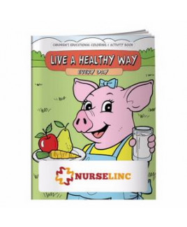 BIC Graphic® Coloring Book: Live a Healthy Way Everyday