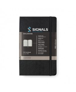 Moleskine® Hard Cover Ruled Large Professional Notebook - Black