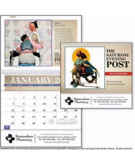 Triumph® The Saturday Evening Post w/Illustrations by Norman Rockwell Pocket Calendar