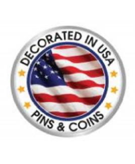 Stock Shape Lapel Pin - Full Color - Glossy Finish