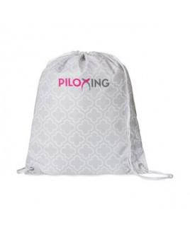 Riley Patterned Cinchpack - Light Grey Moroccan Pattern