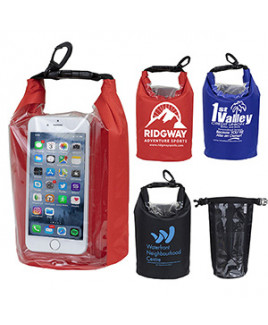 """""""The Navagio"""" 2.5 Liter Water Resistant Dry Bag w/Clear Pocket Window"""
