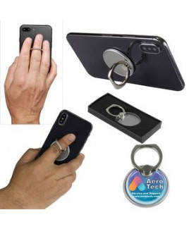 """""""The Twister"""" Cell Phone Metal Ring Holder & Stand w/Epoxy Dome"""