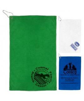 """The Iron"" 300 GSM Heavy Duty Microfiber Golf Towel w/Metal Grommet & Clip (Overseas)"