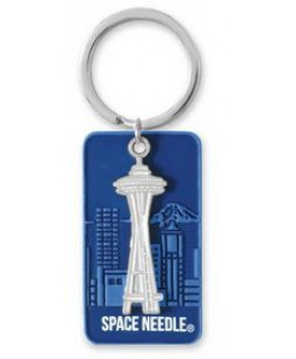 """1 3/4"""" Soft Touch Key Tag w/up to 1"""" Charm"""