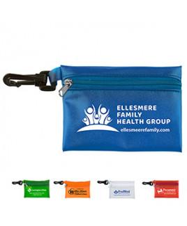 """Bali"" Translucent Zipper Storage Pouch w/Plastic Hook"