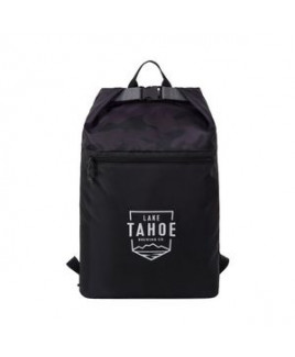 Rainier Roll Top Backpack - Black-Urban Camo Pattern