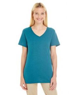 Jerzees Ladies' 4.5 oz. TRI-BLEND V-Neck T-Shirt