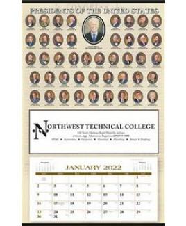 Triumph® Presidents Hanger 12-Month Calendar