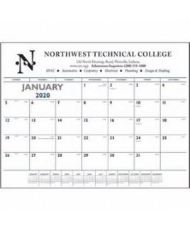 Triumph® Blue & Black Desk Pad Calendar