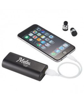 Metal True Wireless Earbuds and Power Bank