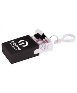 Wired Earbuds with Keychain Case and Stand