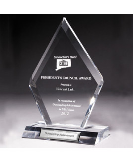 """Laser Engraved Large Multi-Faceted Acrylic Award (5""""x 8 3/4""""x 1/2"""")"""