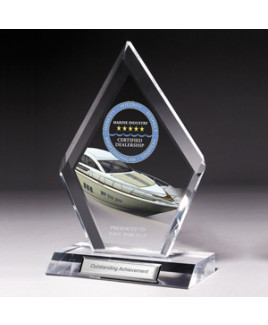 """Large Multi-Faceted Acrylic Award w/4-Color Process (5""""x 8 3/4""""x 1/2"""")"""