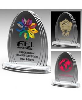 """Laser Engraved Oval Legend Award (6 1/4""""x 7 3/4""""x 3/4"""")"""