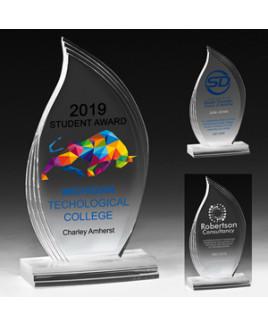 "Flame Legend Award w/4-Color Process (3 3/4""x 7 1/8""x 3/4"")"