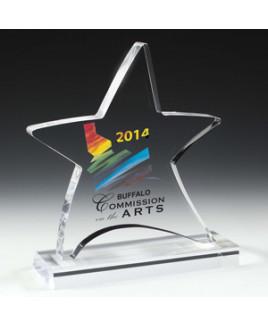 "Laser Engraved Moving Star Award (6 1/4""x 7 1/2""x 3/4"")"