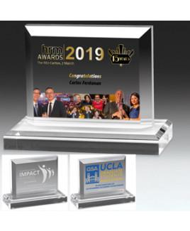 "Laser Engraved Mini Billboard Acrylic Award (6 1/2""x 5 1/4""x 3/4"")"