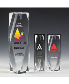 "Screen Printed Flat Top Obelisk Award (2""x 8""x 2"")"