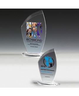 "Allure Acrylic Award w/4-Color Process (4 1/2""x 8""x 3/8"")"