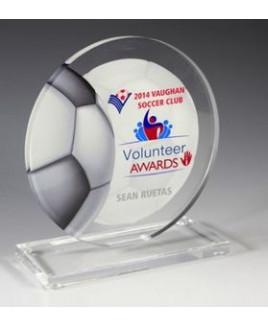 """Soccer Achievement Award- 4 Color Process Imprint - (5¾"""" x 6¼"""")"""