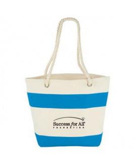 12 oz. Cotton Canvas Capri Stripes Shopper Tote