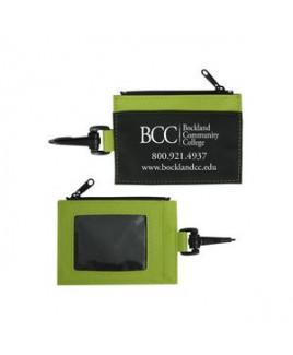 Zippered Id Wallet W/Clip