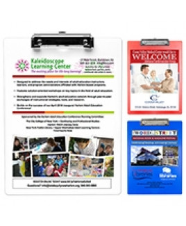 """""""McQuary FC"""" Letter Size Clipboard w/PhotoImage® Full Color Imprint & Metal Spring Clip"""
