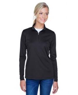 ULTRACLUB Ladies' Cool & Dry Sport Performance Interlock Quarter-Zip Pullover
