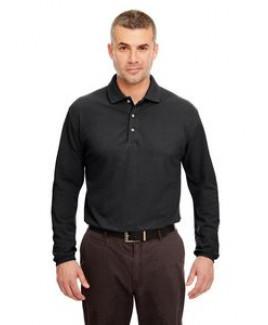 ULTRACLUB Adult Long-Sleeve Classic Piqué Polo