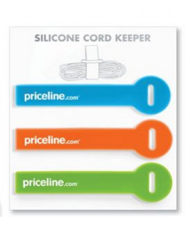 Silicone Cord Keeper Strap - Printed (Set of 3)