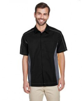 NORTH END Men's Fuse Colorblock Twill Shirt