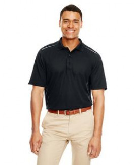 CORE 365 Men's Radiant Performance Piqué Polo withReflective Piping