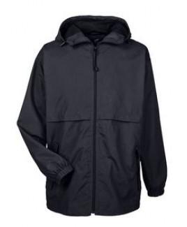 ULTRACLUB Adult Microfiber Full-Zip Hooded Jacket