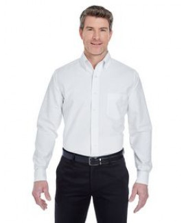 ULTRACLUB Men's Tall Classic Wrinkle-Resistant Long-Sleeve Oxford