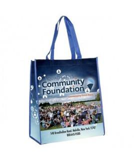 """Brenda"" Non-Woven Full-Color Laminated Wrap Carry All Tote Bag (Overseas)"