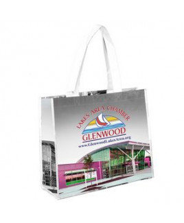 """""""Margaret"""" Full-Color Laminated Wrap Carry All Tote Bag (Overseas)"""