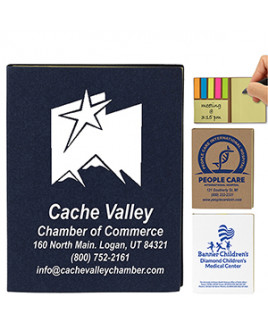 """""""Loomis"""" Small Recycled Paper Cover Sticky Notes & Flag Booklet"""